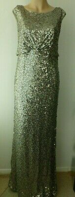 No.1 Jenny Packham Green Sequin Maxi Party Dress size 20 new with tags