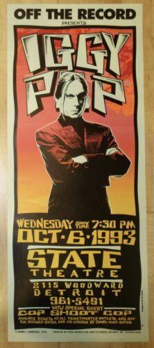 1993 Iggy Pop - Detroit Silkscreen Concert Poster by Mark Arminski