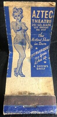 ~Vintage Used BURLESQUE AZTEC THEATER Los Angeles, 3 Girlie Graphic Images