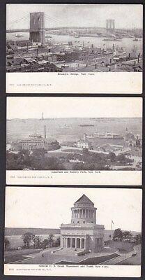 USA NY NEW YORK x5 c1902 u/b PPCs by Illustrated Post Card Co