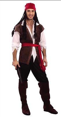 Mens Caribbean Captain Jack Sparrow Pirate Fancy Dress Costume Stag Party UK