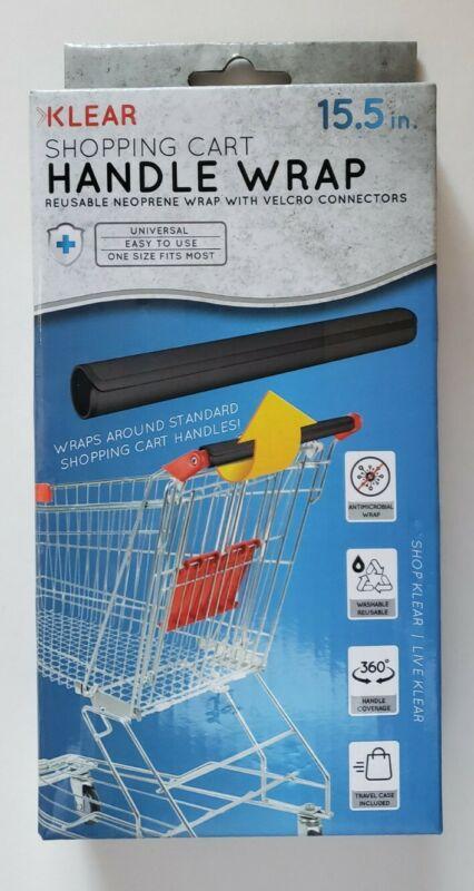 Klear Reusable Shopping Cart Handle Wrap- Black New