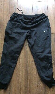 Large Nike Cuffed Black Leggings