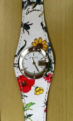 NWT Gucci Wonen's 104L Floral Special Edition 2005 Watch YA104511