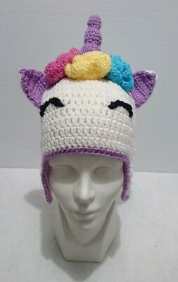 Cute Toddler Kids Girl&Boy Baby Crochet Knit beanie cap UNICORN costume - Cute Unicorn Costume