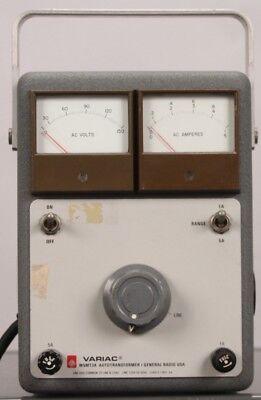 General Radio Variac W5mt3a Autotransformer - Line 120v 50-60hz Load 0-140v 5a