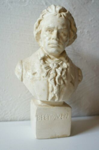 Vintage French BEETHOVEN Figure Bust Head Statue Classical Music France