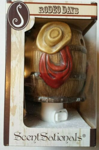 ScentSationals Plug-In Outlet Wall Wax Warmer Rodeo Days Barrel BRAND NEW