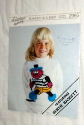 Bertie Bassett  sweater knitting pattern knitting for sale  Abergavenny