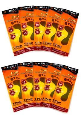 10 Paar Fuß- Sohlenwärmer Einheitsgröße | Thermopad | Wärmesohlen | Fußwärmer