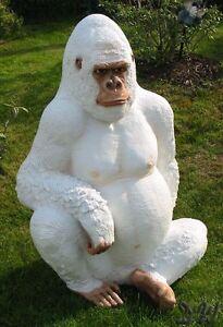 Gorilla affe lebensgro wei 114 cm deko figur skulptur dekoration zoo film kino ebay - Dekoration kino ...
