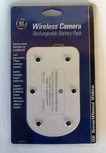 GE SmartHome Video Wireless Camera Rechargeable Battery Pack Sealed
