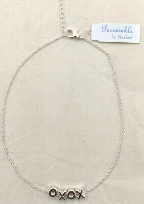 "Periwinkle Women's Necklace, ""XOXO"" - Silver, (16.5"" - 18.5"")"