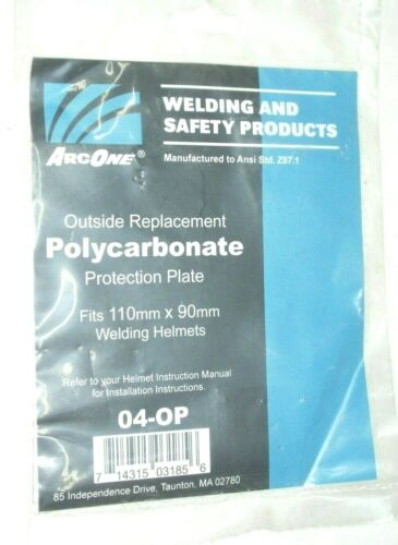 Arc One 04-OP Clear Outer Replacement Lens for Welding Helmet 110 x 90mm Poly