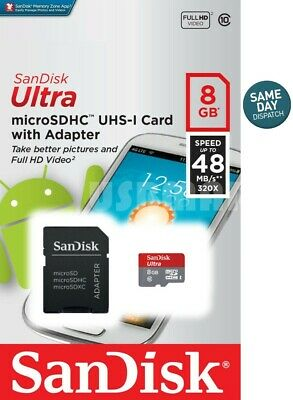 SanDisk 8GB Ultra Class 10 Micro SD Card Extreme Drone DJI Phantom Quadcopter  ()