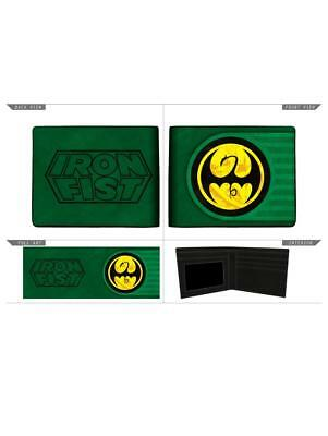 MARVEL COMICS IRON FIST SYMBOL GREEN BI-FOLD WALLET (OFFICIAL) for sale  Shipping to South Africa