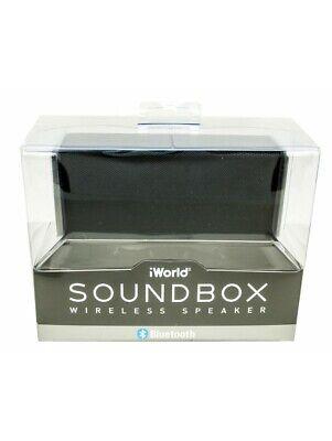 Black iWorld Soundbox Wireless Speaker BLACK BRAND NEW SEALED FREE P & P