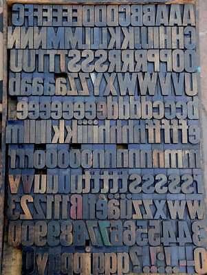 Letterpress Wood Printing Blocks 181pcs 2.44 Tall Wooden Type Woodtype Alphabet
