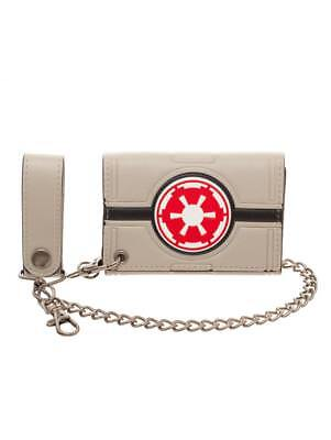 OFFICIAL STAR WARS GALACTIC EMPIRE SYMBOL AT-AT STYLED WALLET AND CHAIN