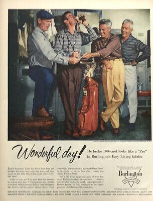 Burlington Fabrics Clothing Men Magazine Print Ad Vintage 1956 Fashion Golf