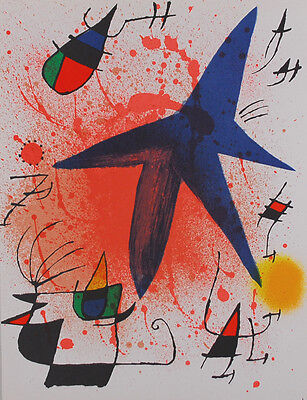 Joan Miró - L`Astre bleu - Farblitho - Mourlot 857