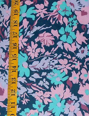 Fabric Jo Ann Quilt Blocks  Garden Trellis  Navy Floral 100  Cotton 1 25 Yd