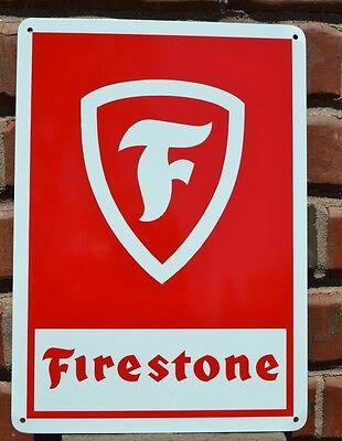 FIRESTONE TIRE Shop SIGN LOGO HOT ROD GARAGE Mechanic Advertising NHRA 10day