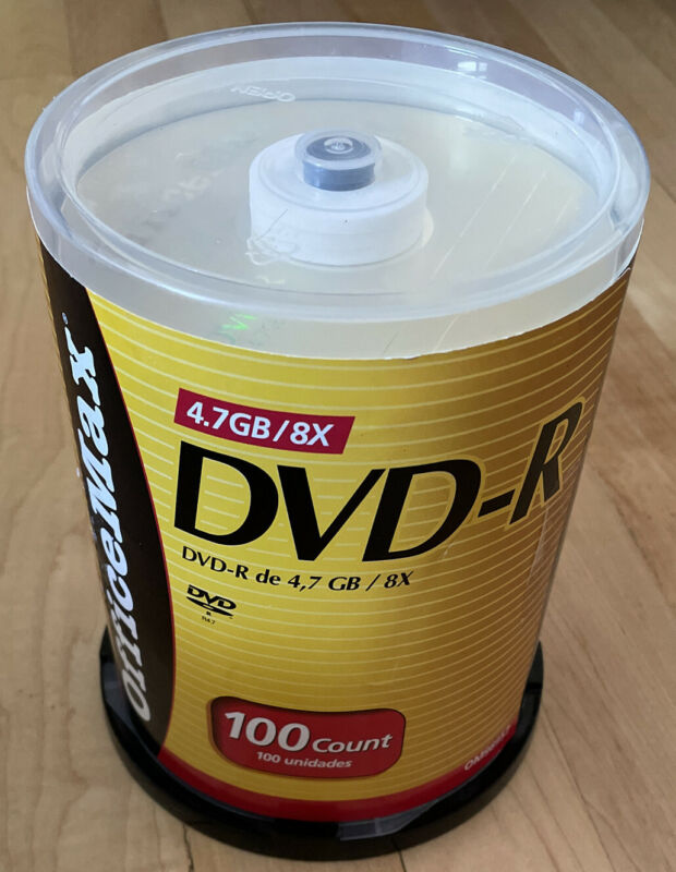 office max DVD-R 4.7GB/8X 100 count