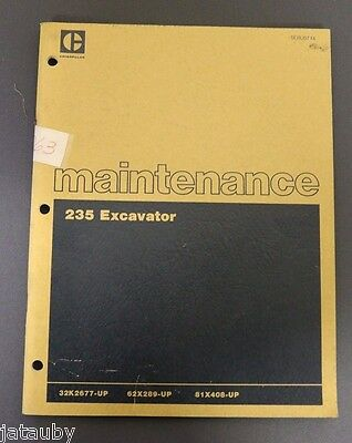 Vintage Original Caterpillar Maintenance 235 Excavator Brochure Manual 180