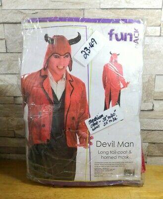 Devil Man Costume (FANCY DRESS COSTUME DEVIL MAN SIZE MEDIUM BRAND NEW IN)