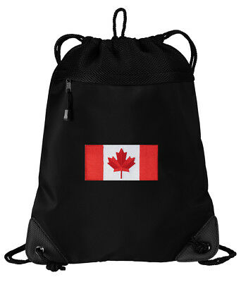 Canada Flag Drawstring Bag Canadian Flag Backpacks Cinch Pack MESH & MICROFIBER ()