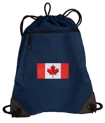 Canada Flag Backpack Drawstring Bag Cinch Pack MESH & MICROFIBER! ()