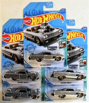 2020 Hot Wheels '64 Chevy Impala Zamac ~ Lot of 5 ~ Free Shipping