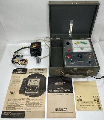 Rare Vintage Mercury Model 800 Crt Tester Reactivator W Manual Paperwork