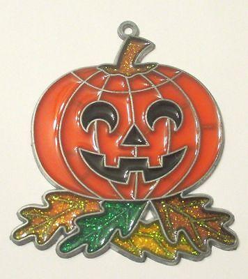 Pumpkin Jack (PUMPKIN WITH BLACK EYES SUNCATCHER (HALLOWEEN JACK 0' LANTERN HOLIDAY))