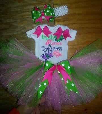 St Patricks Day Tutu (Irish Princess St. Patricks Day tutu outfit, preemie-6,)