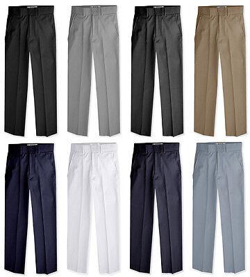 JL36 Johnnie Lene Boys Flat Front Slacks Slim Fit Dress Pants  (Boys Flat Front Pants)