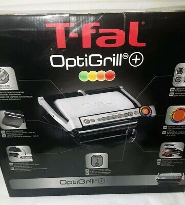 Optigrill Indoor Grill Small Kitchen Appliances Countertop Grill Stainless Black