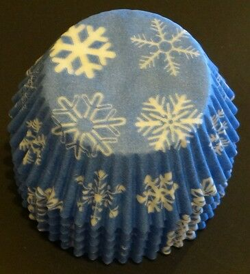 Frozen Cupcake Liner (50 Snowflake FROZEN movie Cupcake Liners Baking Cups STANDARD SIZE BC-16-50 NEW)