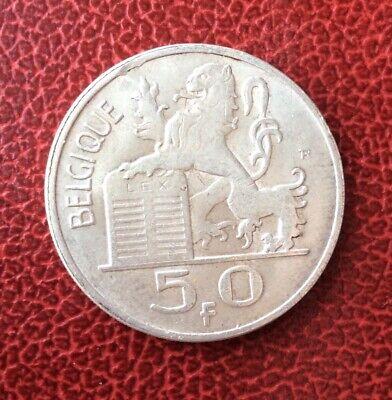 Belgique - Baudouin -  Superbe  monnaie de  50 Francs 1954 Fr -date plus rare
