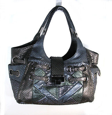 JIMMY CHOO FABULOUS RADIANT GENUINE SNAKESKIN SHOULDER BAG, ITALY