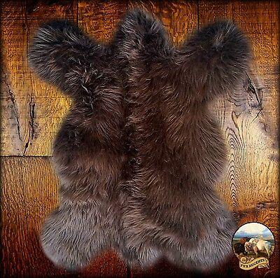 Faux Bear Rugs (Premium Faux Fur Rocky Mountain Bear Skin Pelt Rug Plush Shag Brown Bear)