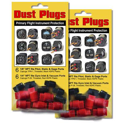 Dust Plugs Kit 2 Pack Altimeter Airspeed Directional Gyro Horizon Turn Bank Vsi