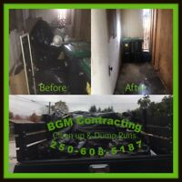 BGM Contracting , dump runs/property clean up