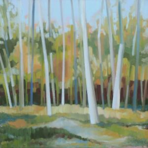 Birch Tree Original Oil Painting