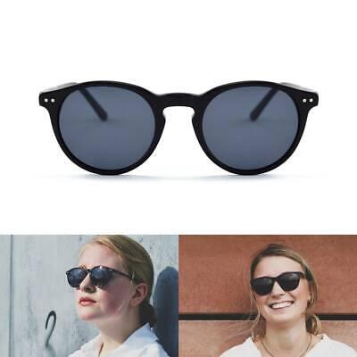 V&F Retro Sonnenbrille - Schwarz / Blau - Für Mann / Frau - UV400 Polarisiert