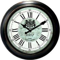 Homestyle Antique Wall Clock Battery Operated HOC04  ret $90