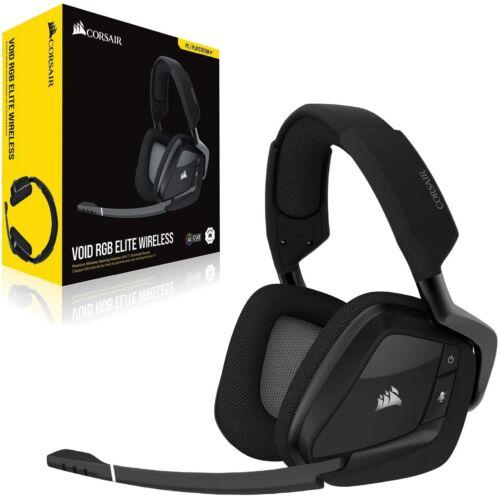Corsair Void RGB Elite Wireless Premium Gaming Headset 7.1 Surround Sound Carbon