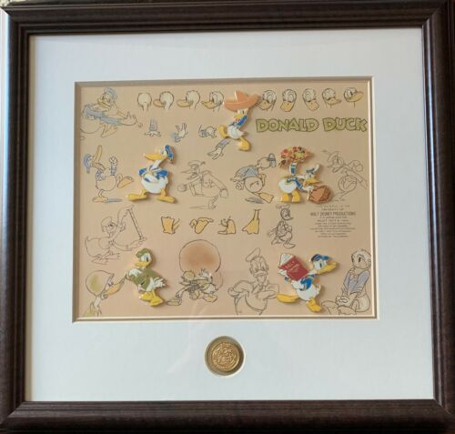 Disney History of Donald Duck Journey Through Time Framed LE 50 Pin Set