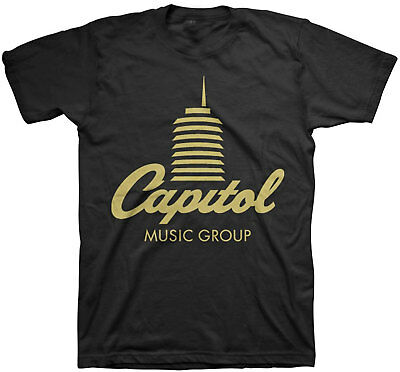 Capitol Records   Capital Tower Adult T Shirt   Universal Music Group  Umg  Emi